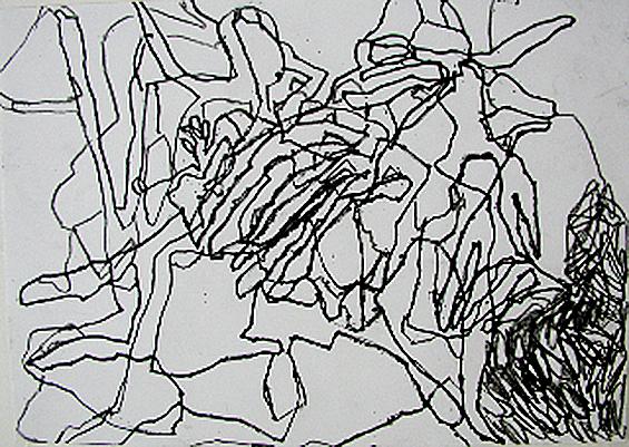 Letter-ID.  von Gebeine, Filzstift, DIN A4, 2010, Eva Weinert