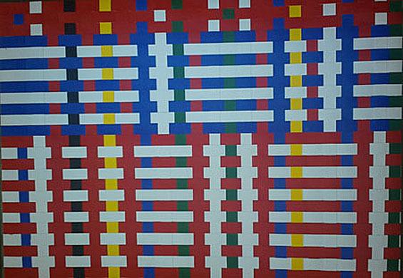 """Letter-ID.  von Länder Grenzen Macht: """"Farben der Nationen"""" Teppich, Flechten: Farbkarton, Juliana Grivas, juliana.neumann@mail.ru"""