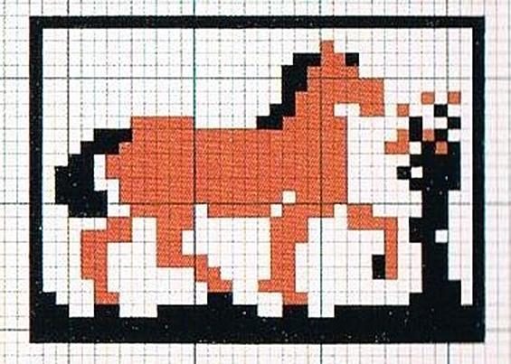 Letter-ID.  von Zum Gedenken an Franz Marc, Pferde, Webmuster 2013, Nadja Glorius-Kröger