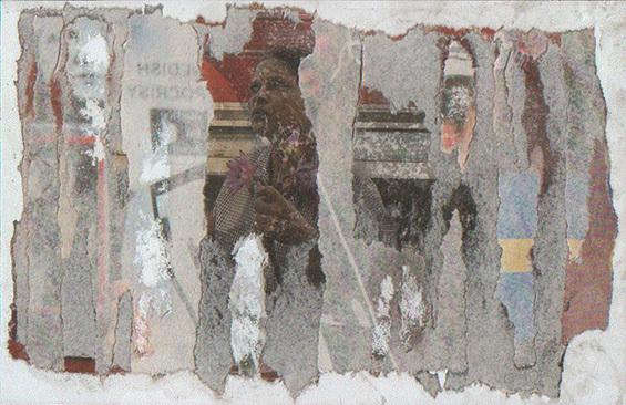 Letter-ID.  von Irritated Woman: Rippografie auf Presspappe, 2010, Matthias Gertz, der.matthias@arcor.de