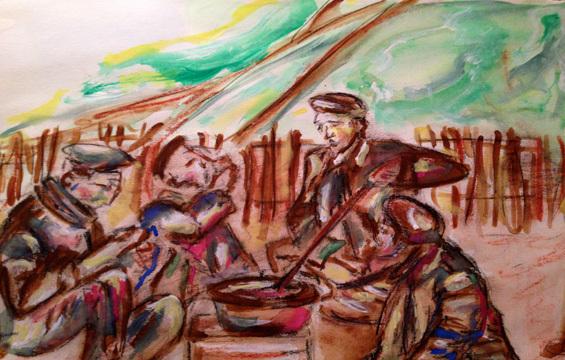 Letter-ID.  von Soldaten beim Essen, Katarina Ditte, svk.ditte@gmail.com