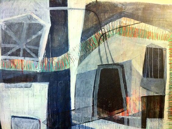 Letter-ID.  von Bunker, Gemälde, Mischtechnik, Rom 2009 Catherine Biocca, Privatsammlung