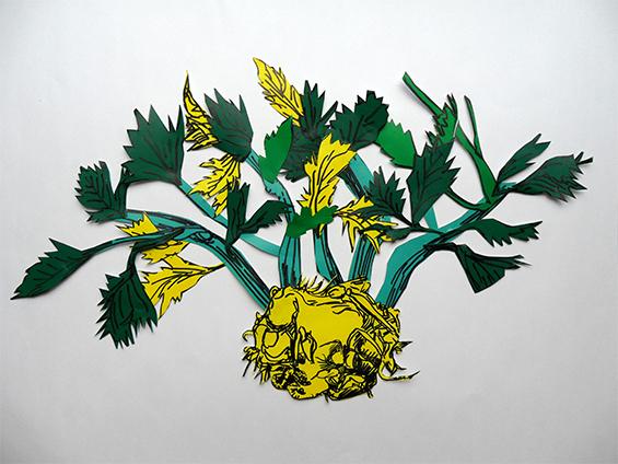 Letter-ID.  von Frisch und verdorben, Collage und Acrylfarbe, 2013 Chris Tomaszewski, chris.tomaszewski@gmx.de