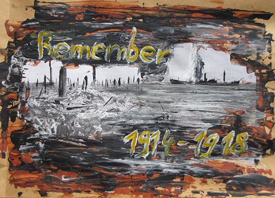 """Letter-ID.  von Letter-ART: """"Remember 1914 - 1918"""" Nina Hinrichs, nina-hinrichs@t-online.de"""